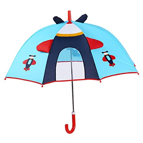 XUXUEPING Paraguas para niños Pequeño Paraguas de Dibujos Animados Estudiante de Escuela Primaria Niños y niñas