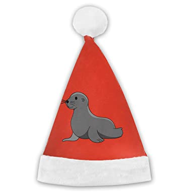 6d140d0aba64b Amazon.com  XM9AS3HAT Baby Sea Lion Elephant Seal Children Adults Christmas  New Years Xmas Party Santa Hats  Clothing