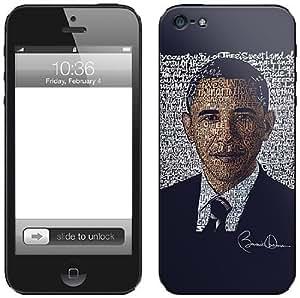 Zing Revolution LA Pop Art Premium Vinyl Adhesive Skin for iPhone 5, Obama 2012 (MS-LPOP160318)