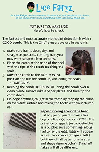 Lice Fairyz Professional Terminator Lice Comb Most Effective Comb to Naturally Treat Head Lice Easily Removes Lice & Lice Eggs with Highest Quality Grooved Stainless-Steel Teeth - 2 or 8 Pack by Lice Fairyz (Image #4)