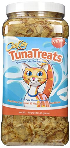 1 lb TunaTreats Premium Bonito Flake Cat Treats by CitiKitty
