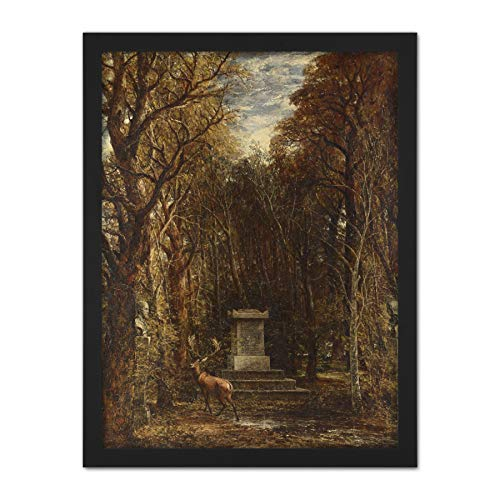 John Constable Cenotaph to The Memory of Sir Joshua Reynolds Large Framed Art Print Poster Wall Decor 18x24