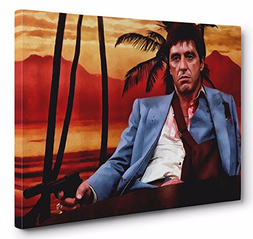 - OneCanvas Al Pacino Scarface Premium Thick-Wrap Canvas Wall Art Print (32x48in.)