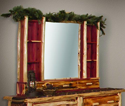 Cedar Log Dresser (Rustic Red Cedar Log Dresser Hutch- Amish Made in the USA)