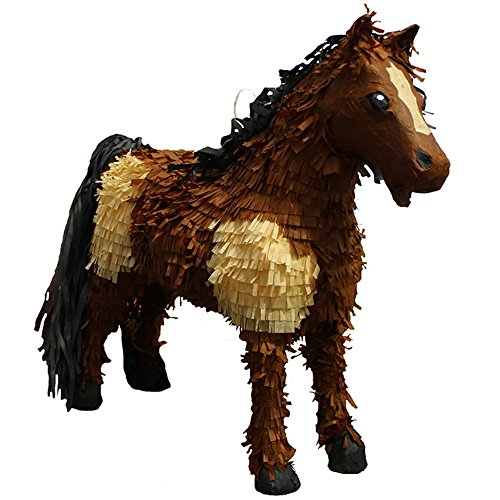 Pinatas 3D Horse Party Game, Decoration & Photo Prop - Brown/Tan -