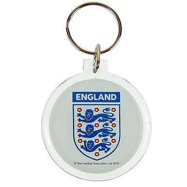 England FA - Llavero acrílico (Talla Única) (Blanco): Amazon ...