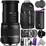 Sigma 18-250mm f/3.5-6.3 DC Macro OS HSM Lens for CANON DSLR Cameras w/ Advanced Photo and Travel Bundle