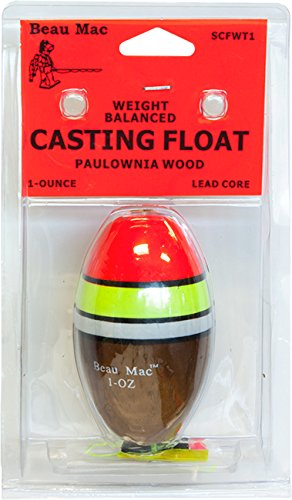 BEAU MAC BEAUECFWT11/2 Weighted Casting Float, 1.5 oz by Beau Mac