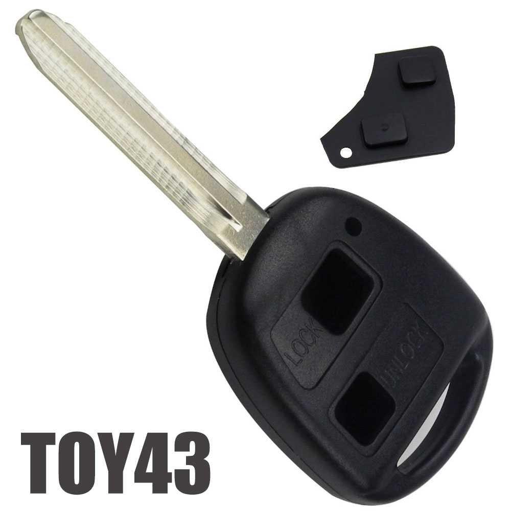 2 Tasten Autoschlü ssel Fernbedienung Schlü ssel Gehä use Rohling Fü r Toyota Black Gamefox 80503