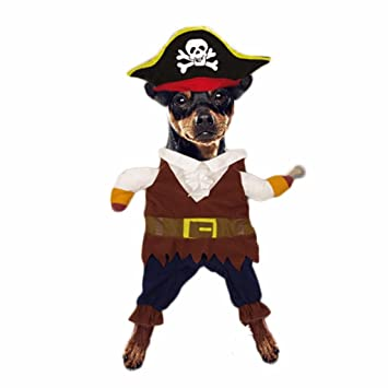 Pet Dog Cat Pirate Costume Christmas Outfit Festival Mantle with Hat  sc 1 st  Amazon UK & Pet Dog Cat Pirate Costume Christmas Outfit Festival Mantle with Hat ...