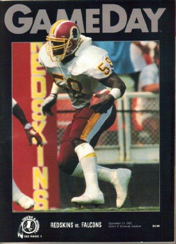 - Game Day Magazine, Washington Redskins vs Atlanta Falcons, RFK Stadium, Vol. XXIII, No. 2 (September 13, 1992)