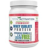 Lactose Free Protein Powder for Women & Men, Low Carb Strawberry 100% Whey Isolate, Low Cholesterol Low Calorie Non-GMO Whey Isolate with Stevia for Muscle Nutrition and Natural Weight Loss Now Review