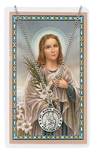 - ST MARIA GORETTI PRAYER CARD SET CATHOLIC SAINT PATRON SAINT OF YOUTH YOUNG WOMEN