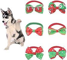 Renendi Pet Suministros de Navidad Perro Gato Lazo Ajustable ...