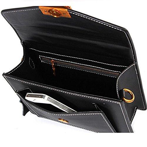 JUNBOSI Diagonal sac luxe à de cuir sac bandoulière Small Party Mme Bag en Retro ligne Noir Bag couture gamme Casual de haut rqWZrn4