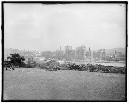 Photo: Pittsburgh,buildings,waterfronts,Pennsylvania,PA,Detroit Publishing - Pa Waterfront Pittsburgh