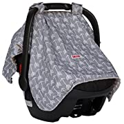 Baby Car Seat Cover For Girls And Boys By Danha – Unisex Carseat Canopy – Gray Color With Arrow Pattern – Can Be Used As Nursing Cover, Blanket And Changing Pad
