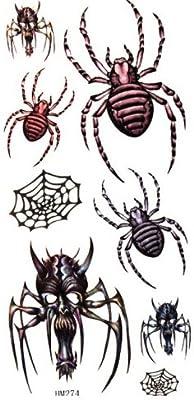 Resistente al agua y el sudor de la araña/Calavera temporal ...