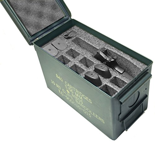 Case Club 1 Pistol & 11 Magazine Holder .50 Cal Ammo Can Foa