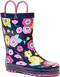 Western Chief Pretty Petunias Rain Boot (Toddler/Little Kid/Big Kid), Navy, 10 M US Toddler
