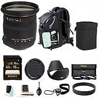 Sigma 17-50MM F2.8 EX DC OS HSM Zoom Lens for Nikon Cameras DX (583306) w/ Bundle