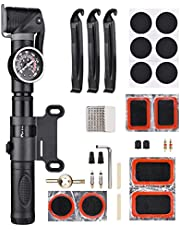 Sunydog Gösterge ve Onarım Kiti ile Mini Bisiklet Pompası 160PSI Bisiklet Hava Pompası Presta ve Schrader Valfler Bisiklet Lastiği Tamir Seti Pompa Bisiklet Hava Şişirme