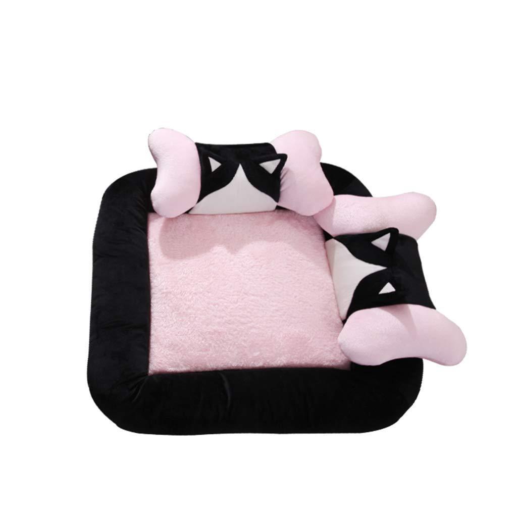 8585cm pet bed Pet Bed,Pet Mat, Kennel Detachable Large Small Dog golden Retriever Dog House Pet Supplies (Size   85  85CM)