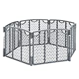 fence gate design Evenflo Versatile Play Space, Indoor & Outdoor Play Space, Easy & Quick Assembly, Portable, 18.5 Square Feet of Enclosed Space, Durable Construction, For Children 6 to 24 Months, Cool Gray
