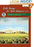 #3: 1: Folk Songs for Solo Singers: Medium Low (Paperback Book & CD)