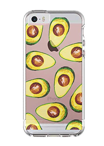 check out a5231 17654 iPhone SE Case iPhone 5 5S Cover Avocado Guac Guacamole Food Foodie Funny  Fruit Clear Translucent Transparent Unique Design Pattern Cover For iPhone  ...