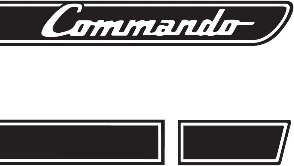 The Pixel Hut gs00189 Matte Black Commando Retro Hood Decals for Jeep Wrangler JK single color 2007-2018