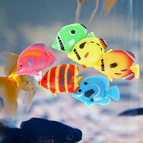 Legendog 20PCS Plastic Fish Aquarium Decor Creative Floating Simulated Fish Aquarium Ornament Fish Tank Animal by Legendog (Image #2)