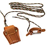 FidgetGear True Cowhide Archery Bowstring Install Tool Rope Cord Recurve Long Bow Stringer String Hunter