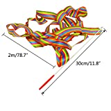YGEOMER 12pcs Rhythmic Dance Ribbons Gym Ribbons