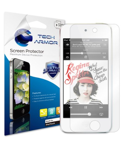 Tech Armor Apple New iPod Touch (5th / Latest Generation) Anti-Glare and Anti-Fingerprint (Matte) Screen Protector with Lifetime Replacement Warranty [3-Pack]