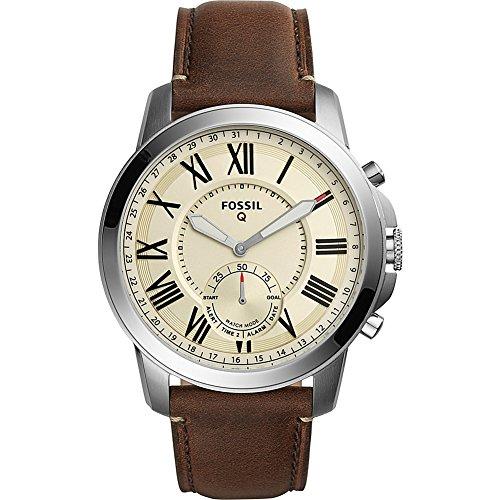 Fossil Hybrid Smartwatch - Q Grant Dark Brown Leather