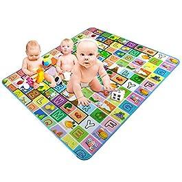 alfombra para bebés divertida con letras, dibujos