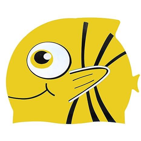 94dffdf5b18a Cuffia Piscina Bambini Topgrowth Cuffie Nuoto Silicone Cartone Animato Pesce  Cuffia da Nuoto Junior Ragazzi Ragazze