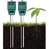 Soil Tester Meter (2 Pack), Fosmon 3-in-1 pH Meter, Soil Sensor for Moisture, Light, & pH Level Measurement for Growning Garden, Lawn, Farm, Plants, Flowers, Vegetable, Herbs & More