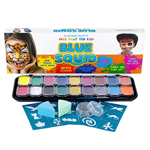 Blue Squid Face Paint for Kids - 18