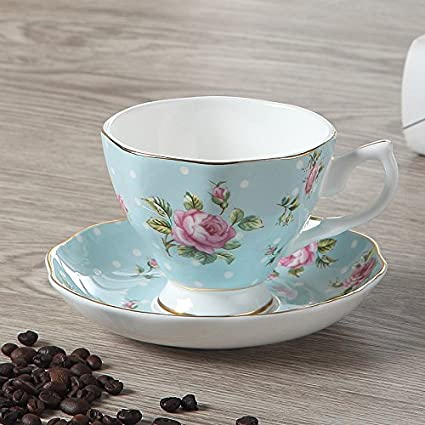 c2de2f20d0e Image Unavailable. Image not available for. Colour: Chaoson British Classic  Luxury Bone China Coffee Cup ...