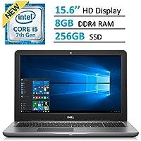 Dell Inspiron 15.6 HD (1366 x 768) LED-Backlit Laptop PC   Intel i5-7200u 2.5GHz   8GB DDR4 RAM   256GB SSD   HDMI   Bluetooth   Backlit Keyboard   Intel HD Graphics 620   Windows 10   GRAY