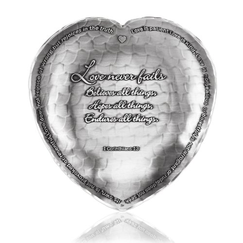 Wendell August Handmade 1st Corinthians Heart Tray Forge, Small Metal Tray, Hand Hammered