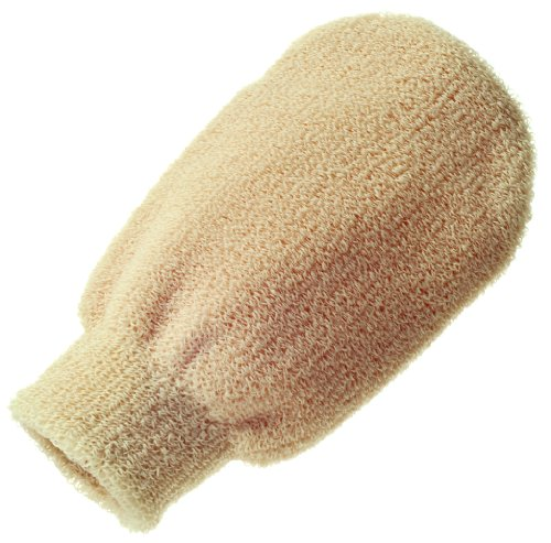 Hydrea London Professional Exfoliating Spa Massage Mitt MT04C Cream (Spa Mitts)