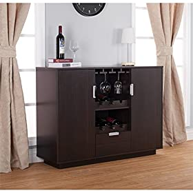 Furniture of America YNJ-1460C5 Mendocino Dining Buffet, Espresso