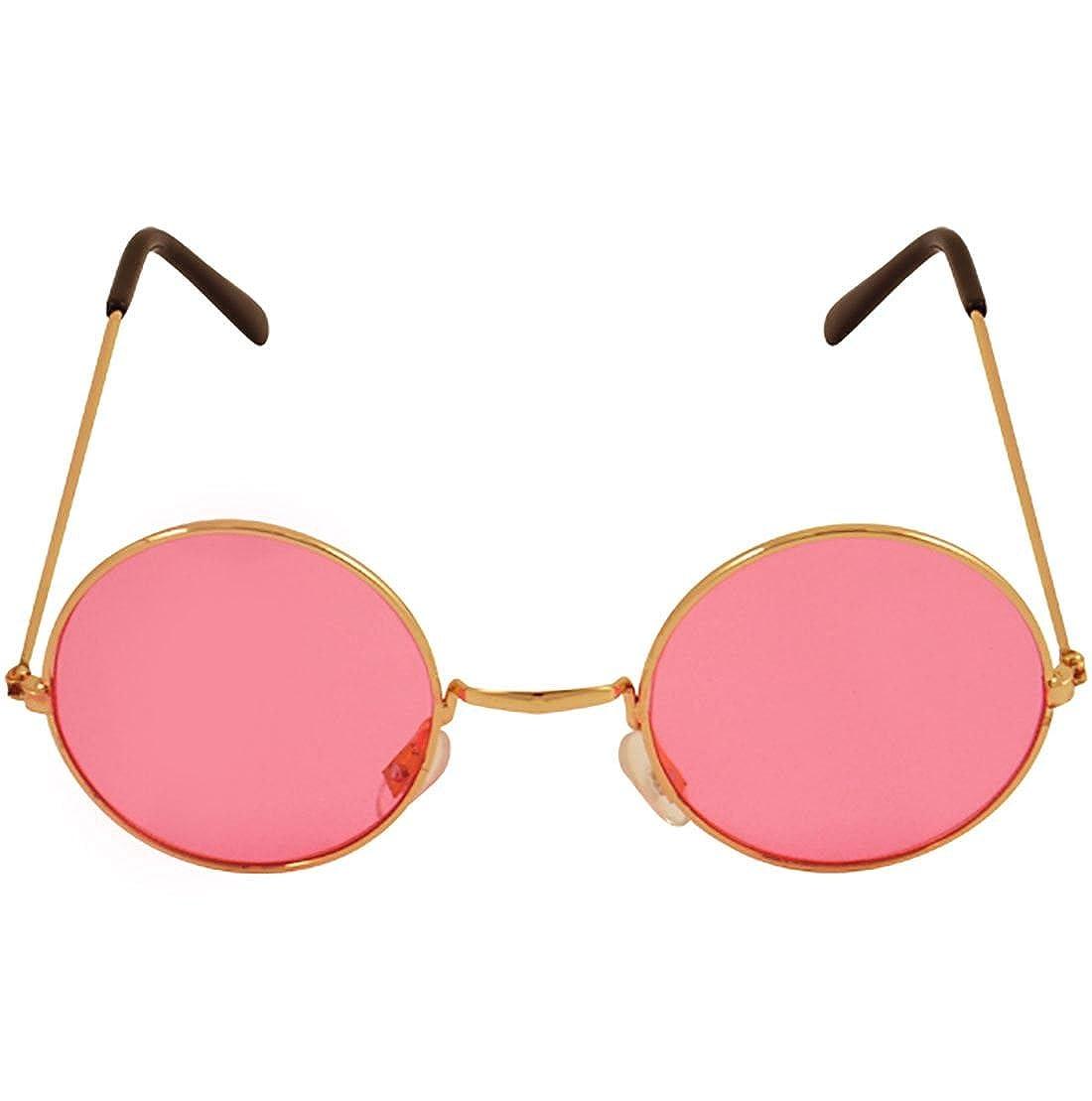 Amazon.com: Marco de oro unisex con lentes rosas para ...