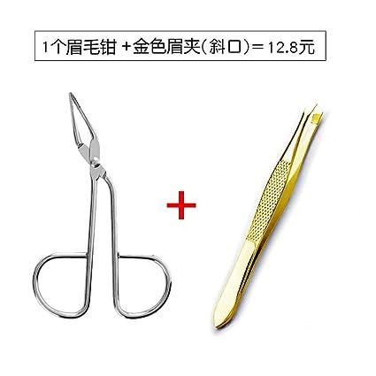 Alicate para cejas alicate para cejas boca plana oblicuo ceja clip desplume garras para tirar bigote