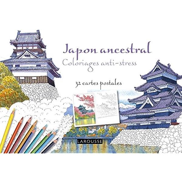Japon ancestral coloriages anti-stress - 32 cartes postales ...