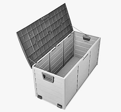 Outdoor Plastic Garden Storage Box Utility Chest Cushion Shed 290L Black NEXT WORKING DAY DELIVERY