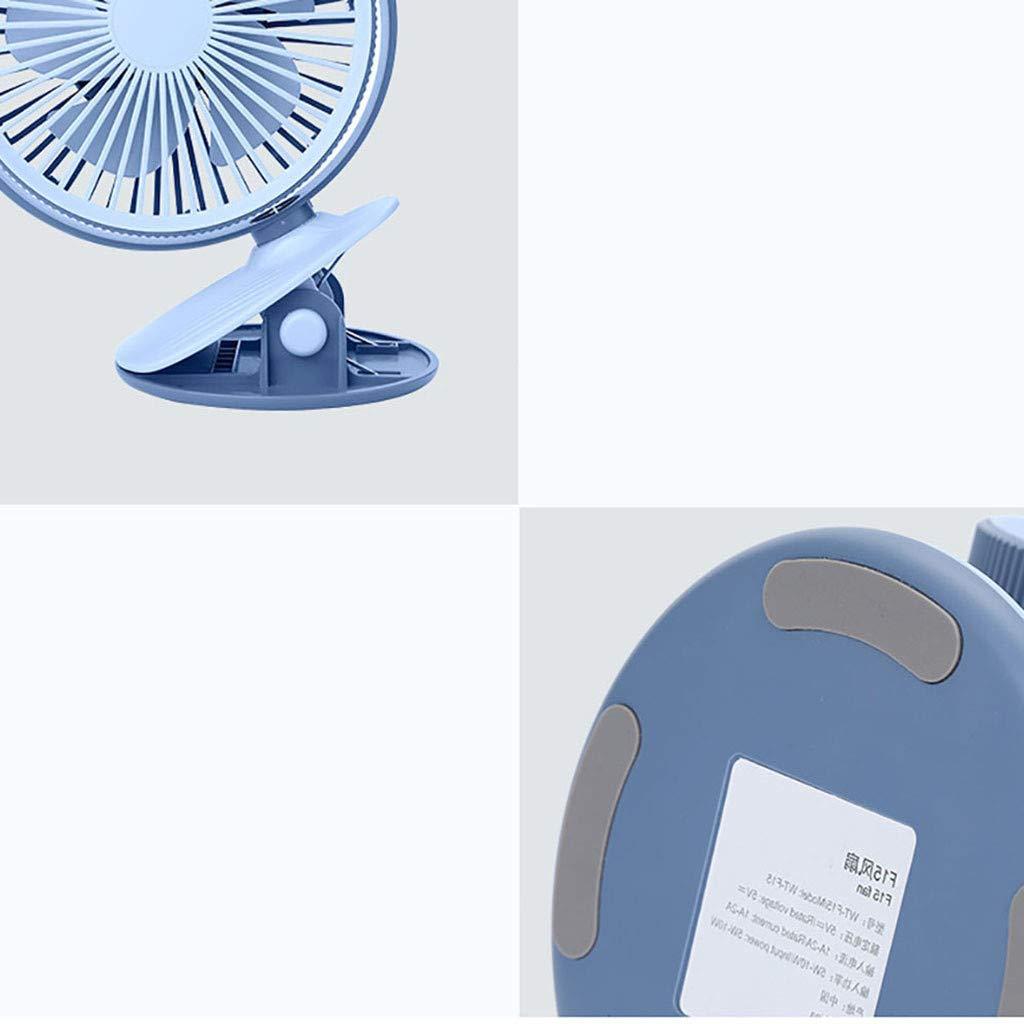 Nouveau Clipable mini ventilateur de bureau de chargement USB,Vitesse du vent r/églable en troisi/ème vitesse avec dElectricit/é Mobile de Puissance 2000mA Ventilateur Maison Ext/érieur Voyage etc bleu